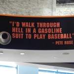 Quote from ceiling mural at McCovey's.