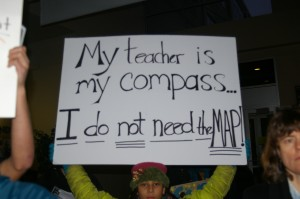 This student protested against MAP testing last January.